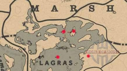 Blackwater marais de la Carte au trésor dans Red Dead Online