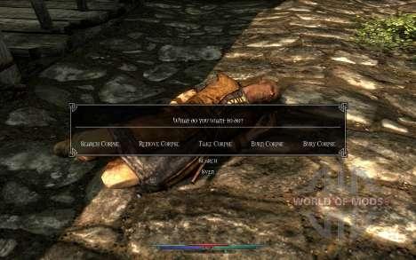 Reinigung von Leichen für Skyrim fünften Screenshot