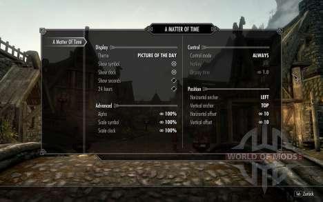 HUD Clock Widget für Skyrim fünften Screenshot