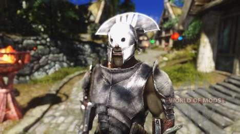 Un ensemble d'armures et d'armes de l'Uruk-Hai pour le troisième écran Skyrim