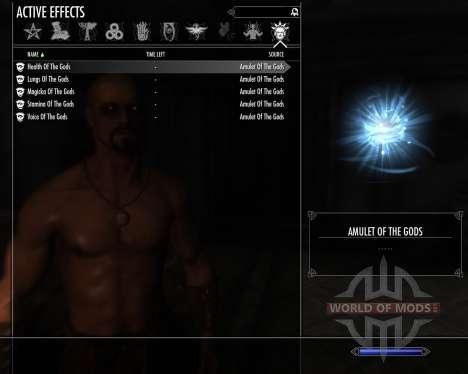 Amulett der Götter für Skyrim zweiten Screenshot