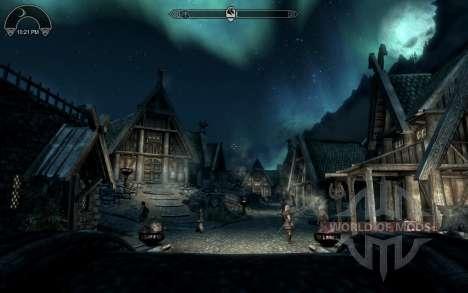 HUD Clock Widget für Skyrim zweiten Screenshot