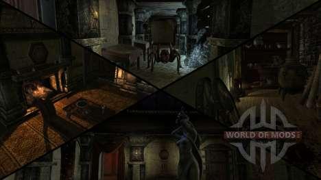 Manoir sinistre pour le troisième écran Skyrim