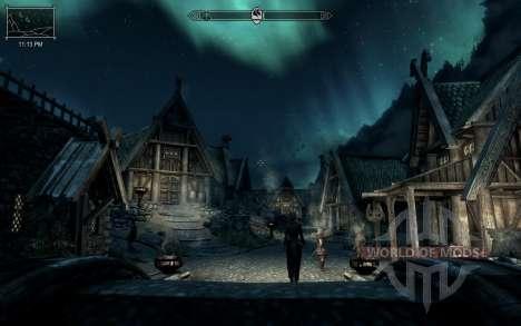 HUD Clock Widget für das vierte Skyrim-Screenshot