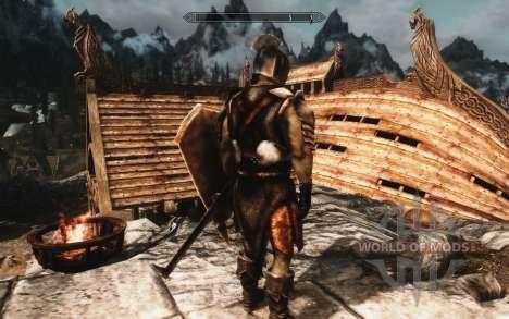 Un ensemble d'armures et d'armes de l'Uruk-Hai pour le quatrième Skyrim écran