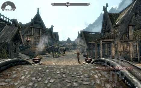 HUD Clock Widget für Skyrim
