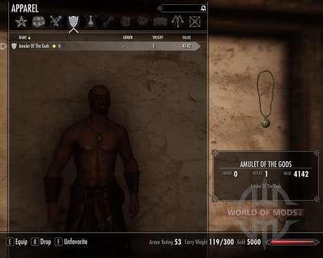 Amulett der Götter für das dritte Skyrim-Screenshot