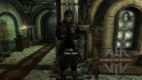 Schwarz und gold-Elfen-Rüstung für das dritte Skyrim-Screenshot