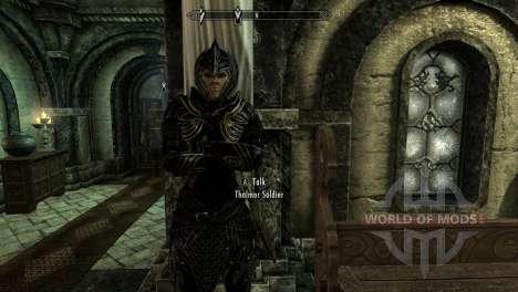 Noir et or-elfes armor pour le quatrième Skyrim écran