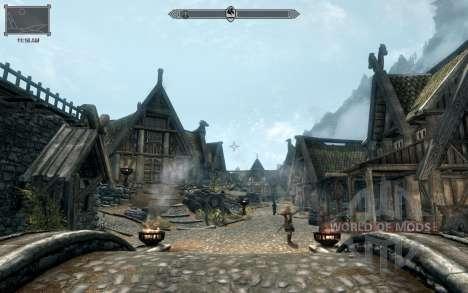 HUD Clock Widget für das dritte Skyrim-Screenshot
