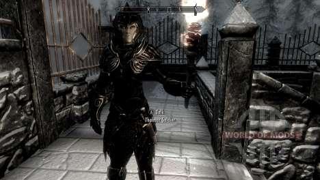 Schwarz und gold-Elfen-Rüstung für Skyrim