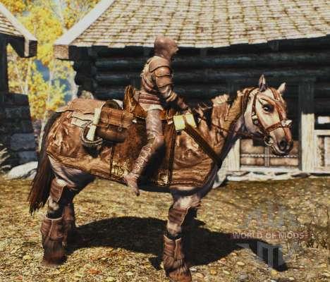 Rüstung für Pferde für das dritte Skyrim-Screenshot