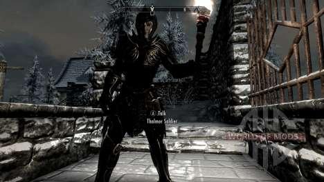 Noir et or-elfes armor pour Skyrim deuxième écran