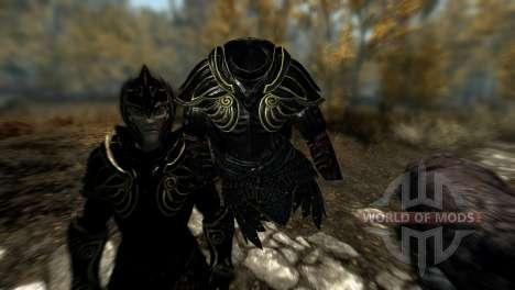 Noir et or-elfes armor pour Skyrim cinquième écran