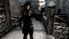 Noir et or-elfes armor