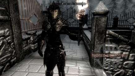 Noir et or-elfes armor pour Skyrim