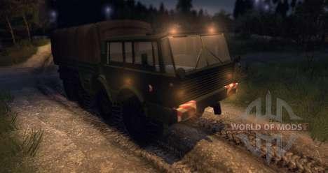 Tatra 813 8 x 8 armée tchèque finale pour Spin Tires