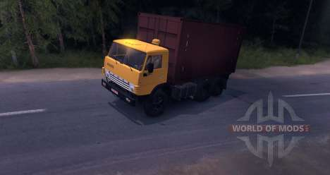 KAMAZ 55102 Container v2. 0 für Spin Tires