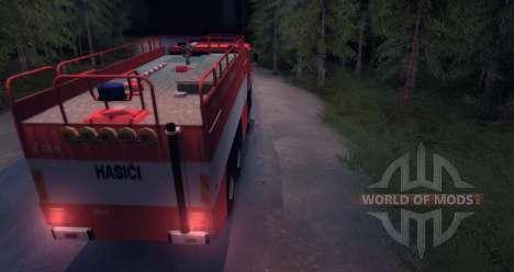 Tatra 815-Feuer für Spin Tires