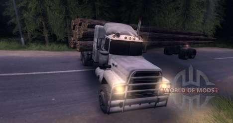 Log MACK Truck für Spin Tires