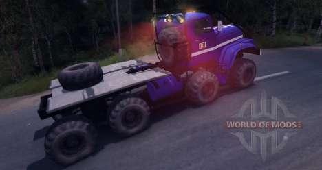 Procès de KrAZ 8 x 8 pour Spin Tires