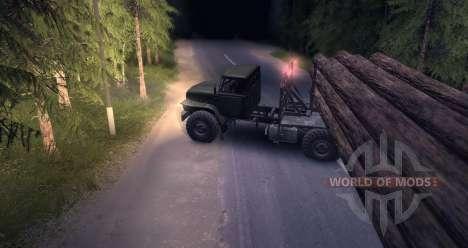 Le transporteur de bois Oural pour Spin Tires