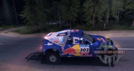 Volkswagen Touareg Dakar Beta pour Spin Tires