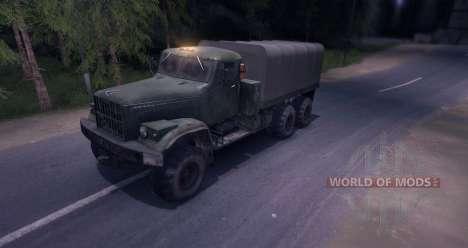 Camion KrAZ pour Spin Tires