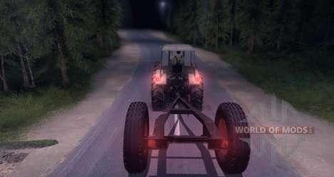 Dutra D4K with Trailer für Spin Tires