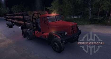KrAZ bois camion routier pour Spin Tires