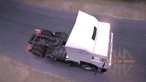 KAMAZ-6460 blanc pour Spin Tires