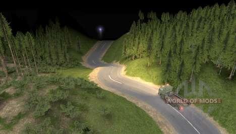 Carte de la route vers le ciel pour Spin Tires