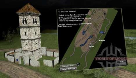 Die Protokollierung Trail Karte 2 für Spin Tires