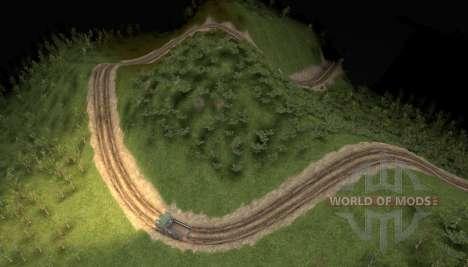 Karte von sanften Hügeln für Spin Tires