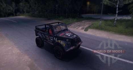 GAZ-69 Offroad Edition v1. 1 für Spin Tires
