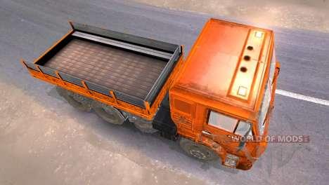 KAMAZ 65117 schlammig-Orange für Spin Tires
