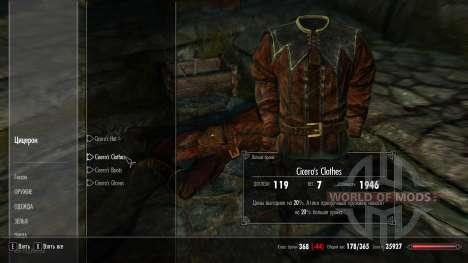 Vêtements de protection Cicéron pour Skyrim deuxième écran
