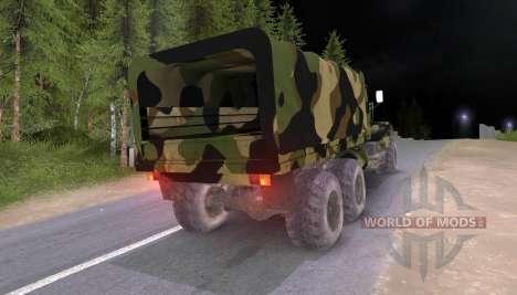Camion KrAZ Camo v2 pour Spin Tires