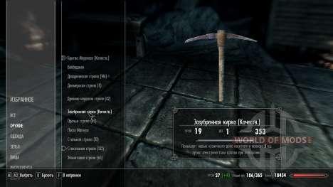 Verbesserte Werkzeuge - Erweiterung Fähigkeiten  für Skyrim