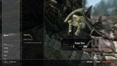 Gewicht-Verlust-Drakonih-Knochen für Skyrim