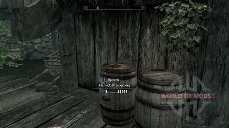 Le livre de pompage de piratage pour Skyrim