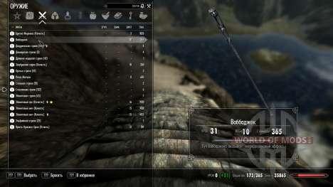 Infini de la charge lors de la Daedrique artefac pour Skyrim deuxième écran