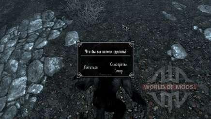 Recherche sur la carte pour le loup-garou et vampire pour Skyrim