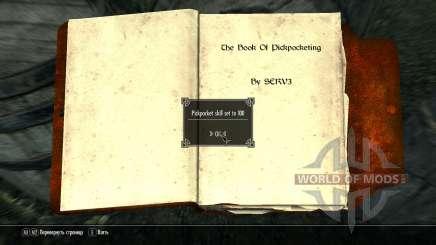 Buch Pumpen Fertigkeit mit dem Diebstahl für Skyrim