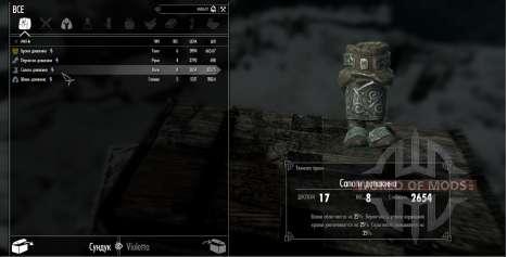 Die Rüstungs-set duvakina für Skyrim