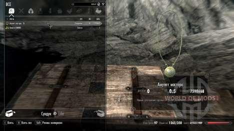 Amulette de l'assistant pour Skyrim