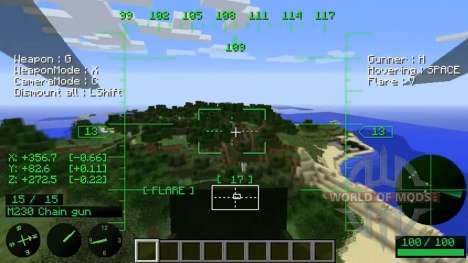 Les hélicoptères pour Minecraft