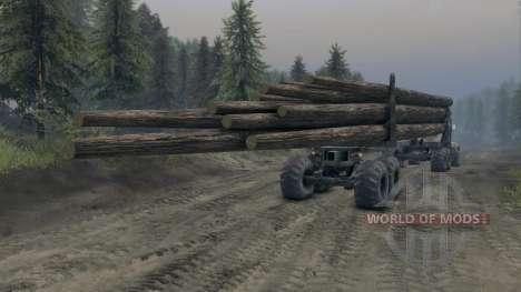 KrAZ-L Holz-v3.0 für Spin Tires