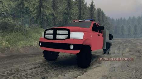 Dodge Ram 1500 brush truck pour Spin Tires