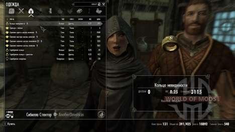 Anneau invisible pour Skyrim